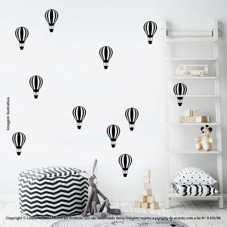 Kit Cartela Adesivos De Parede Para Quarto Infantil Balões Mod:670