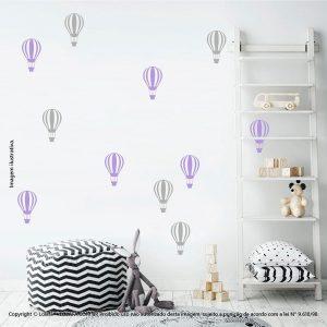 Kit Cartela Adesivo Infantil Para Parede Balões Mod:671