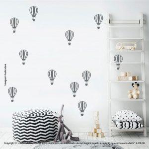 Kit Cartela Adesivo Infantil De Parede Balões Mod:674