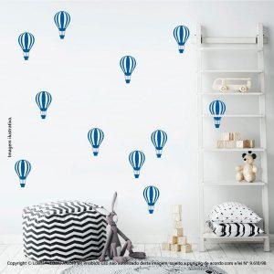 Kit Cartela Adesivos Infantil De Parede Balões Mod:676