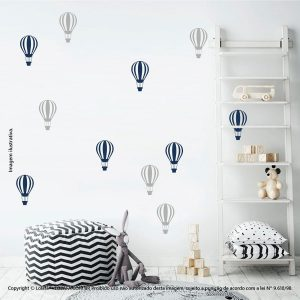 Kit Cartela Adesivos Infantis De Parede Balões Mod:677