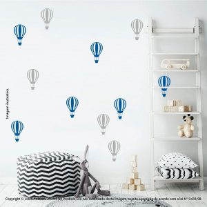 Kit Cartela Adesivo Infantil Parede Balões Mod:682