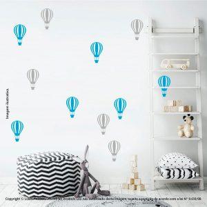 Kit Cartela Adesivos Infantil Parede Balões Mod:685