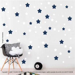 Kit Cartela Adesivo Decorativo Infantil Estrelas Mod:687