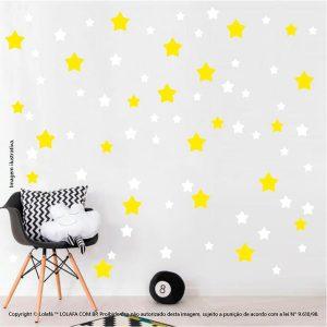 Kit Cartela Adesivos Decorativos Infantil Estrelas Mod:694
