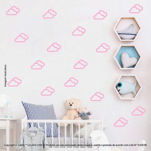 Kit Cartela Adesivo Infantil Nuvens Mod:709