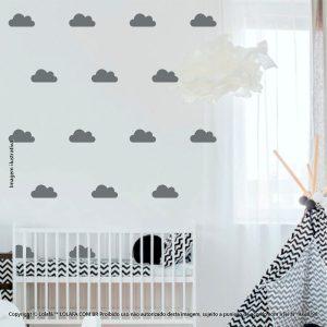 Kit Cartela Adesivo Quarto De Bebe Nuvens Mod:780