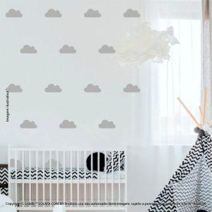 Kit Cartela Adesivo Infantil De Parede Nuvens Mod:782