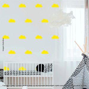 Kit Cartela Adesivos Infantis De Parede Nuvens Mod:785