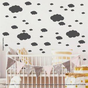 Kit Cartela Adesivo Infantil Nuvens Mod:817