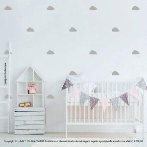 Kit Cartela Adesivos Decorativos Infantil Nuvens Mod:856