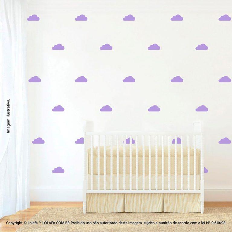 Kit Cartela Adesivo Quarto Infantil Nuvens Mod:882