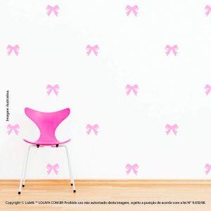 Kit Cartela Adesivos De Quarto De Bebe Lacinhos Mod:896