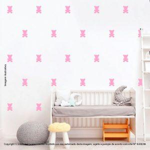 Kit Cartela Adesivo Infantil Parede Ursinhos Mod:898