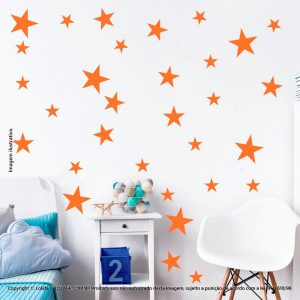 Kit Cartela Adesivos Decorativos Infantil Estrelas Mod:910
