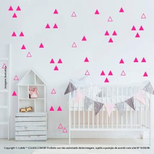 Kit Cartela Adesivo Infantil Triângulos Mod:925
