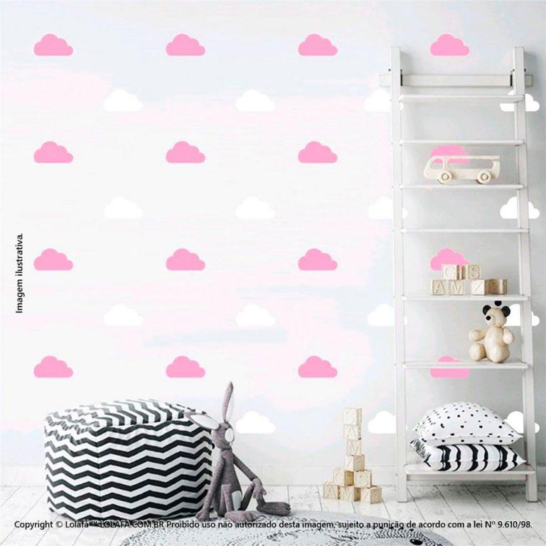 Kit Cartela Adesivos Decorativos Infantil Nuvens Mod:964