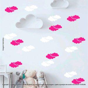 Kit Cartela Adesivos De Parede Infantis Nuvens Mod:975
