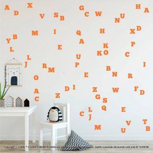 Kit Cartela Adesivos Parede Infantil Alfabeto Mod:983