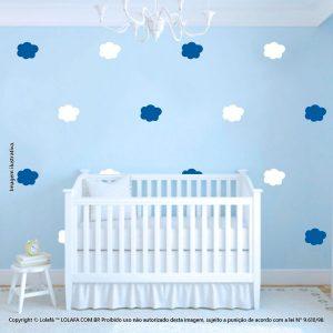 Kit Cartela Adesivo Infantil Para Parede Nuvens Mod:995