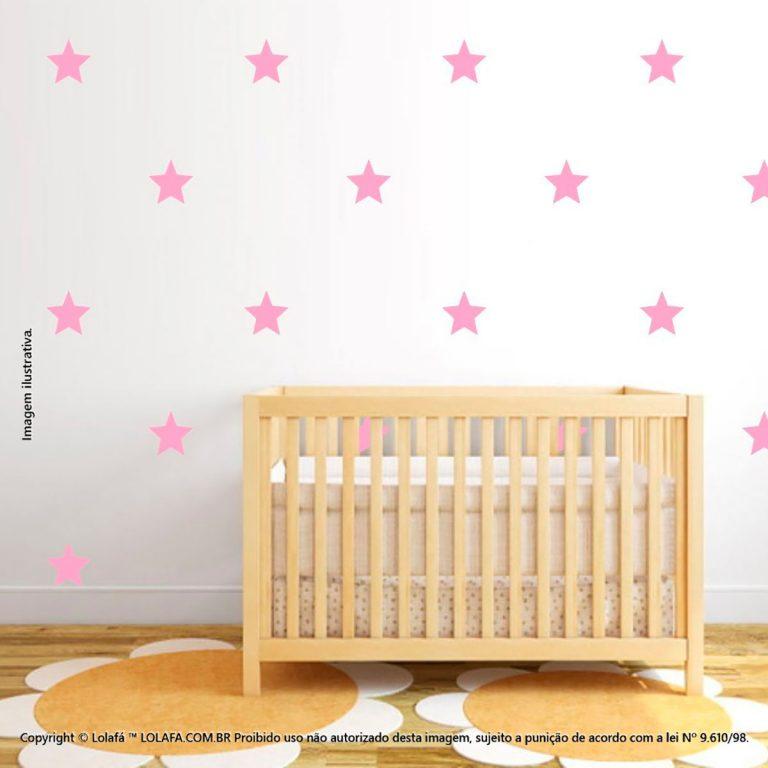 Kit Cartela Adesivos De Parede Infantil Estrelas Mod:1028