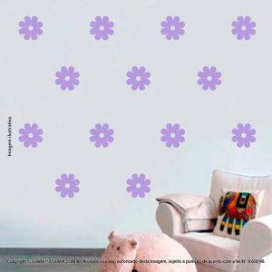 Kit Cartela Adesivos De Parede Infantis Flores Mod:1029