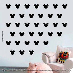 Kit Cartela Adesivos Para Quarto Infantil Mickey Mod:1040