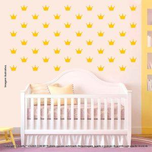 Kit Cartela Adesivo Para Parede Infantil Coroas Mod:1043