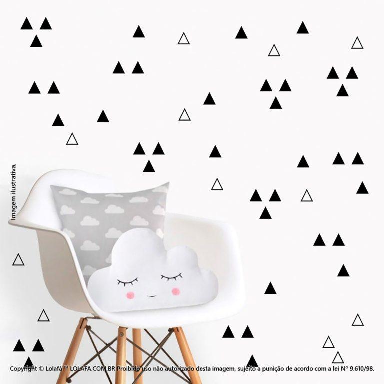 Kit Cartela Adesivo Infantil Parede Triângulos Mod:1060