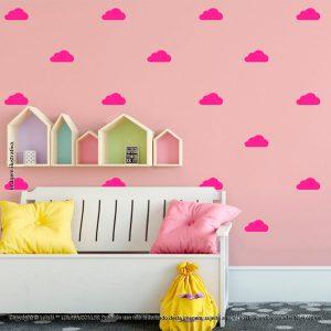 Kit Cartela Adesivo Decorativo Infantil Nuvens Mod:1065