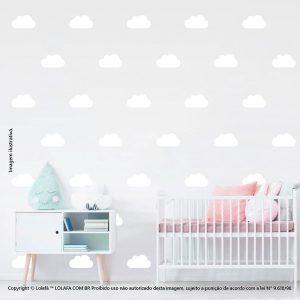 Kit Cartela Adesivos Decorativos Infantil Nuvens Mod:1072