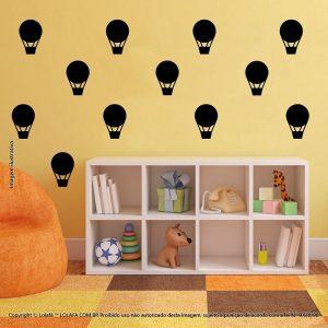 Kit Cartela Adesivo De Parede Infantil Balões Mod:1081